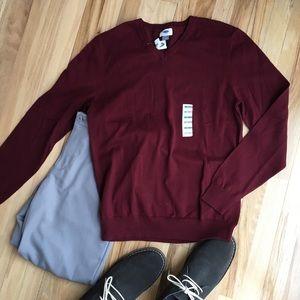 NWT Maroon Old Navy V-neck Sweater